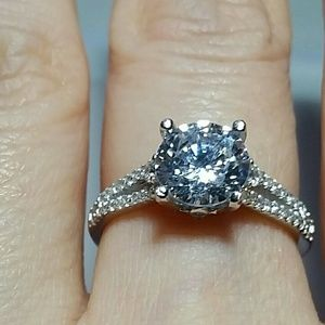 Jewelry - 925SS Simulate Diamond Promise Ring size 7
